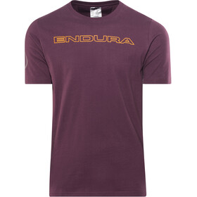 Endura One Clan Carbon T-Shirt Heren, mulberry